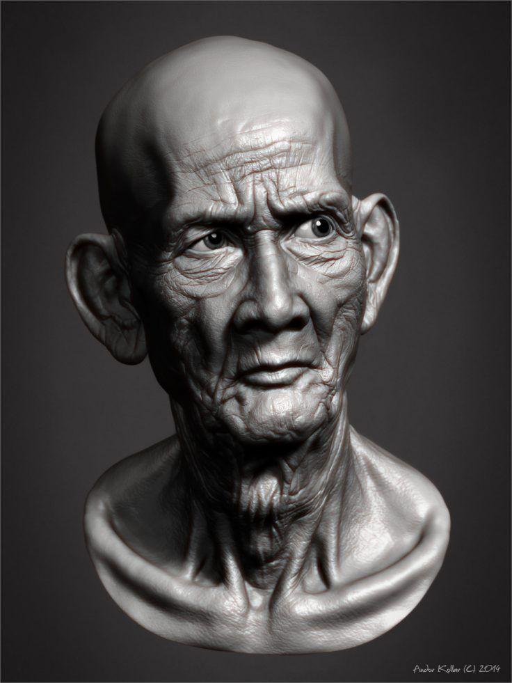 Cambodian Monk's Head by artofillusionist Zbrush