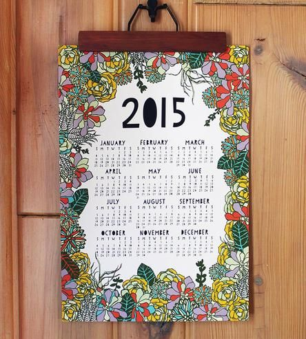 Succulent 2015 Wall Calendar | Experience the sweetness of a sea of succulents all year long.