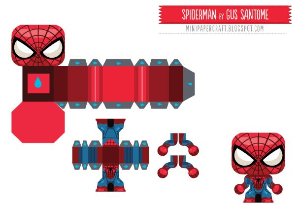 Blog Paper Toy Papertoy Mini Spider Man Template Preview En Papercraft