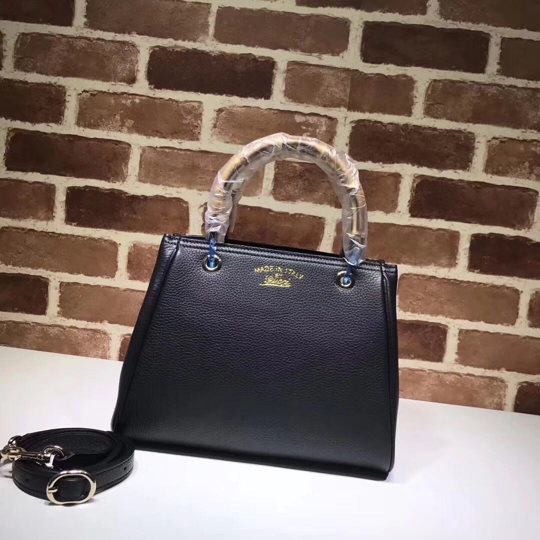 55ede01d76f00 Gucci woman bag bamboo handle tote bag small size