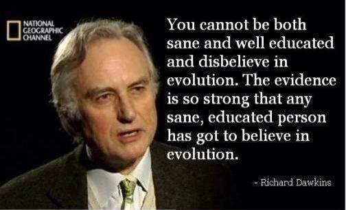 Crees en la evolucion?.