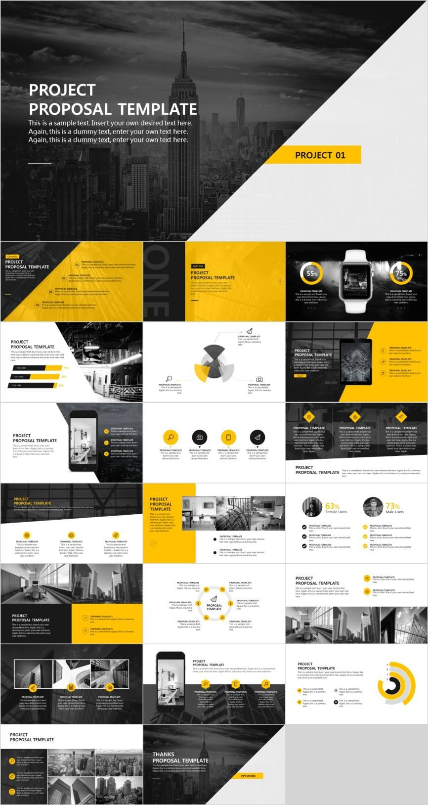 Creative Project Proposal Powerpoint Template Pcslide Com