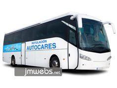Rotulación de Autocares y Autobuses con vinilo de corte e impresión en Barcelona. Parte Lateral. Precios en www.jmwebs.com - Teléfono: 935160047