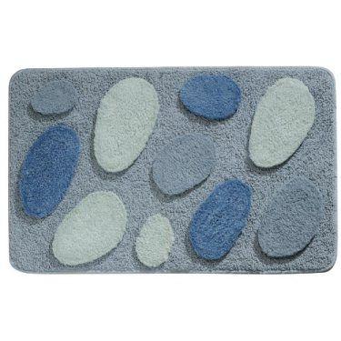 Pebble Bath Mat For Blue Gray Bathroom Decor Home Decor - Blue gray bathroom rugs for bathroom decorating ideas