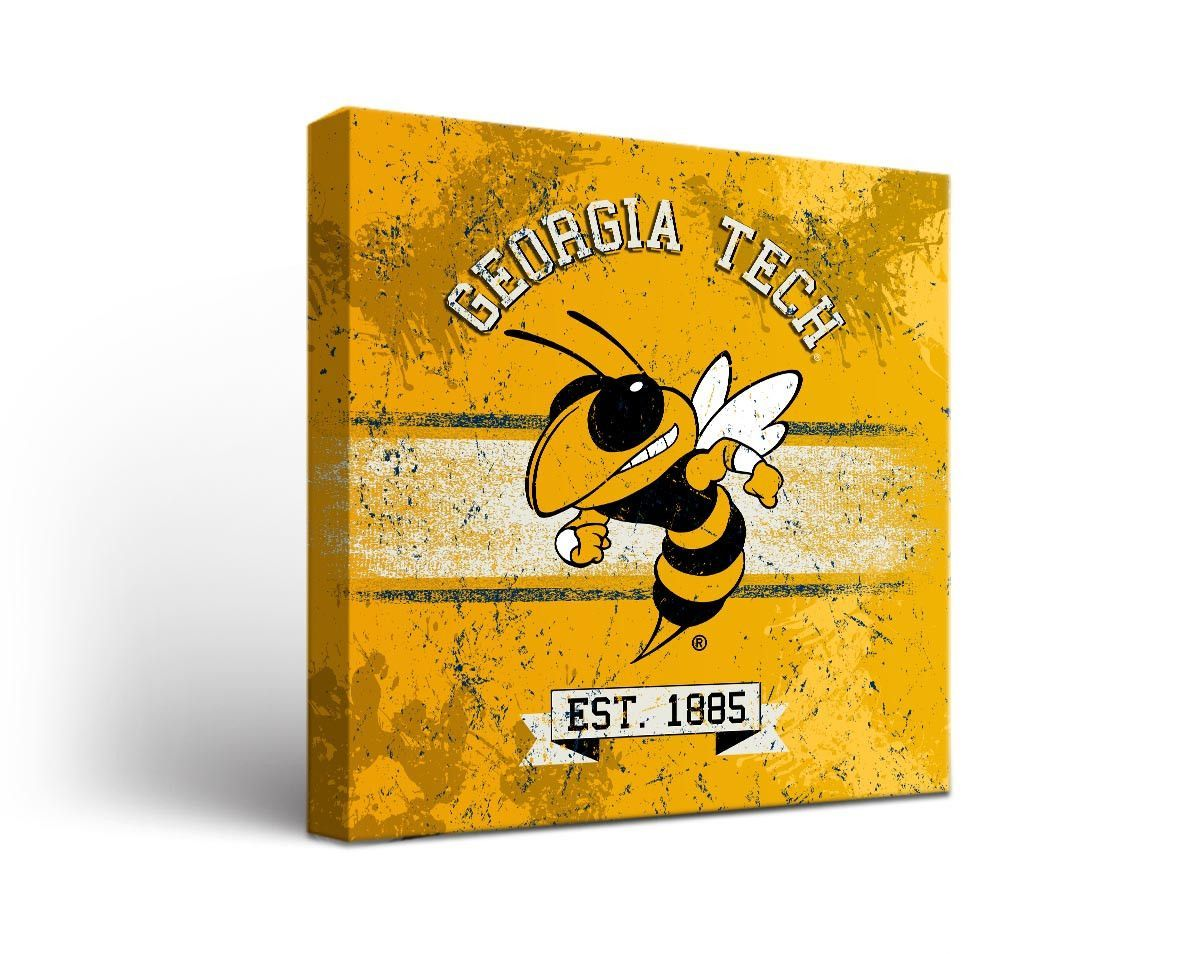 Georgia Tech Yellow Jackets Classic Canvas Wall Art Square ...