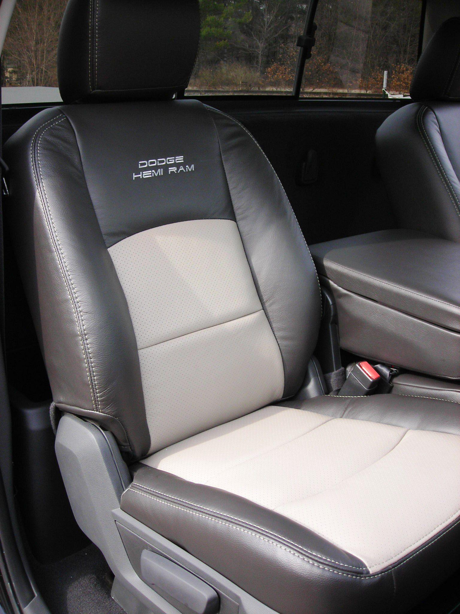 Dodge Ram Custom Automotive Leather Interior; Hemi Logo