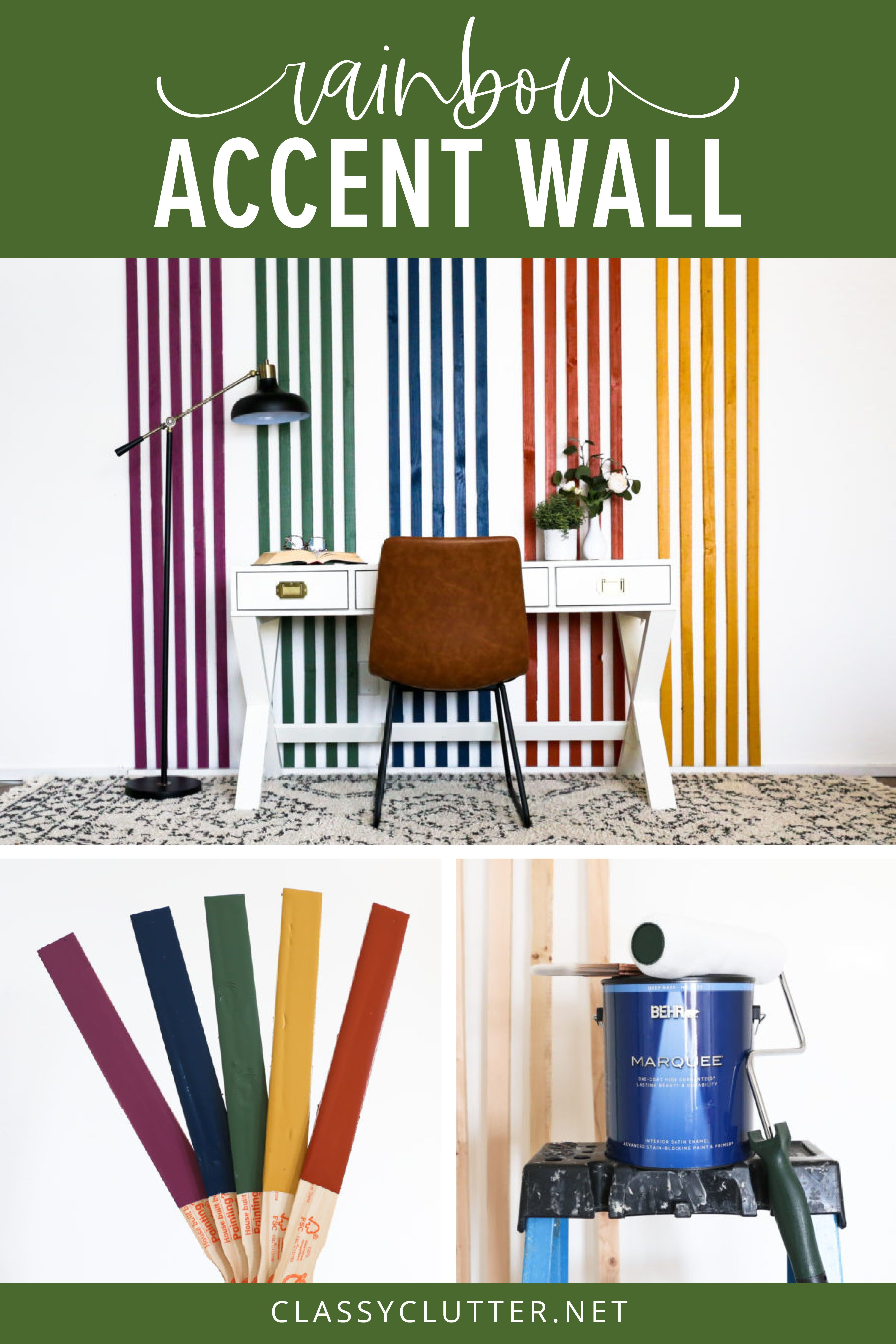 homeschool room striped accent wall with behr paint on office wall colors 2021 id=90730