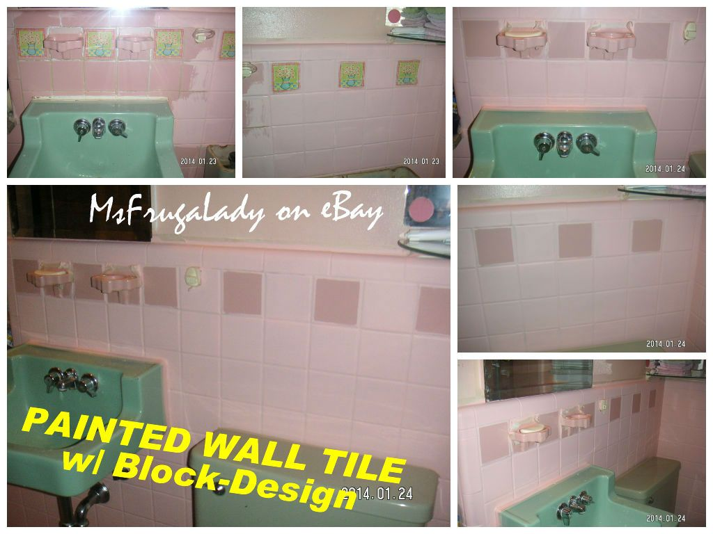 DIY: PAINT/BLOCK-OUT the GROUT OF WALL TILE