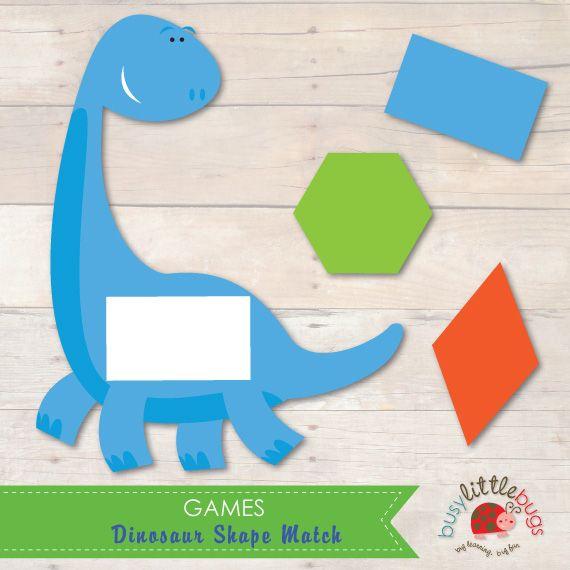 Busy-Little-Bugs-Dinosaur-Shape-Match.jpg 570×570 pixels   MATCH ...