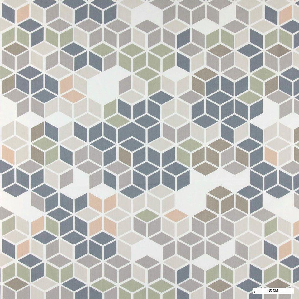 Moderne Stoffe satin natur staubig geometrie stoff stil fabric design