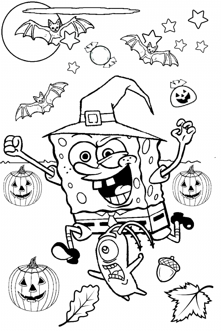 Scary Halloween Coloring Page Beautiful Coloring Pages Spongebob Squ Halloween Coloring Pages Printable Halloween Coloring Pages Scary Halloween Coloring Pages