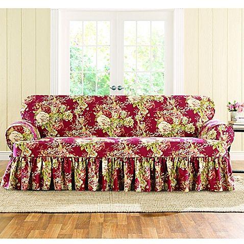 Sure Fit Reg Ballad Bouquet By Waverly Trade T Cushion Sofa