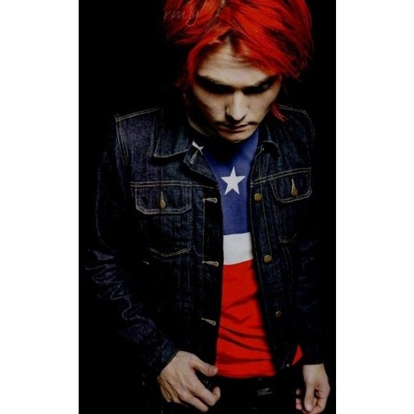 Gerard Way red hair spam ❤ liked on Polyvore featuring my chemical romance, mcr, gerard way, images and people
