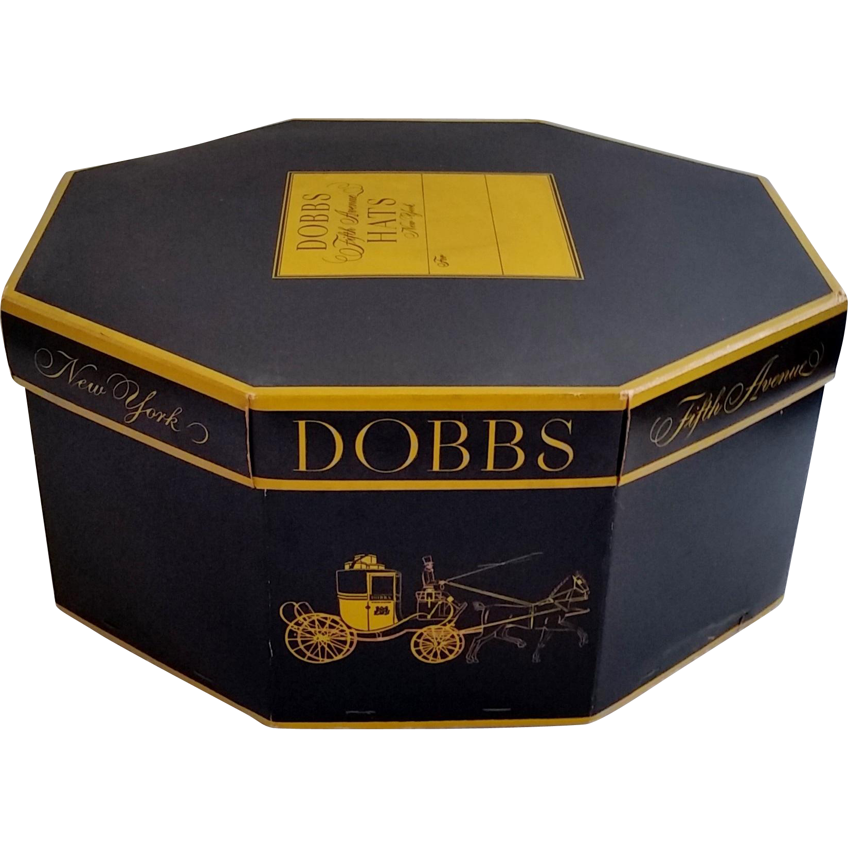 1e14aabfabdd0 Vintage Dobbs Fifth Avenue Hat Box Start a collection and stack them ...