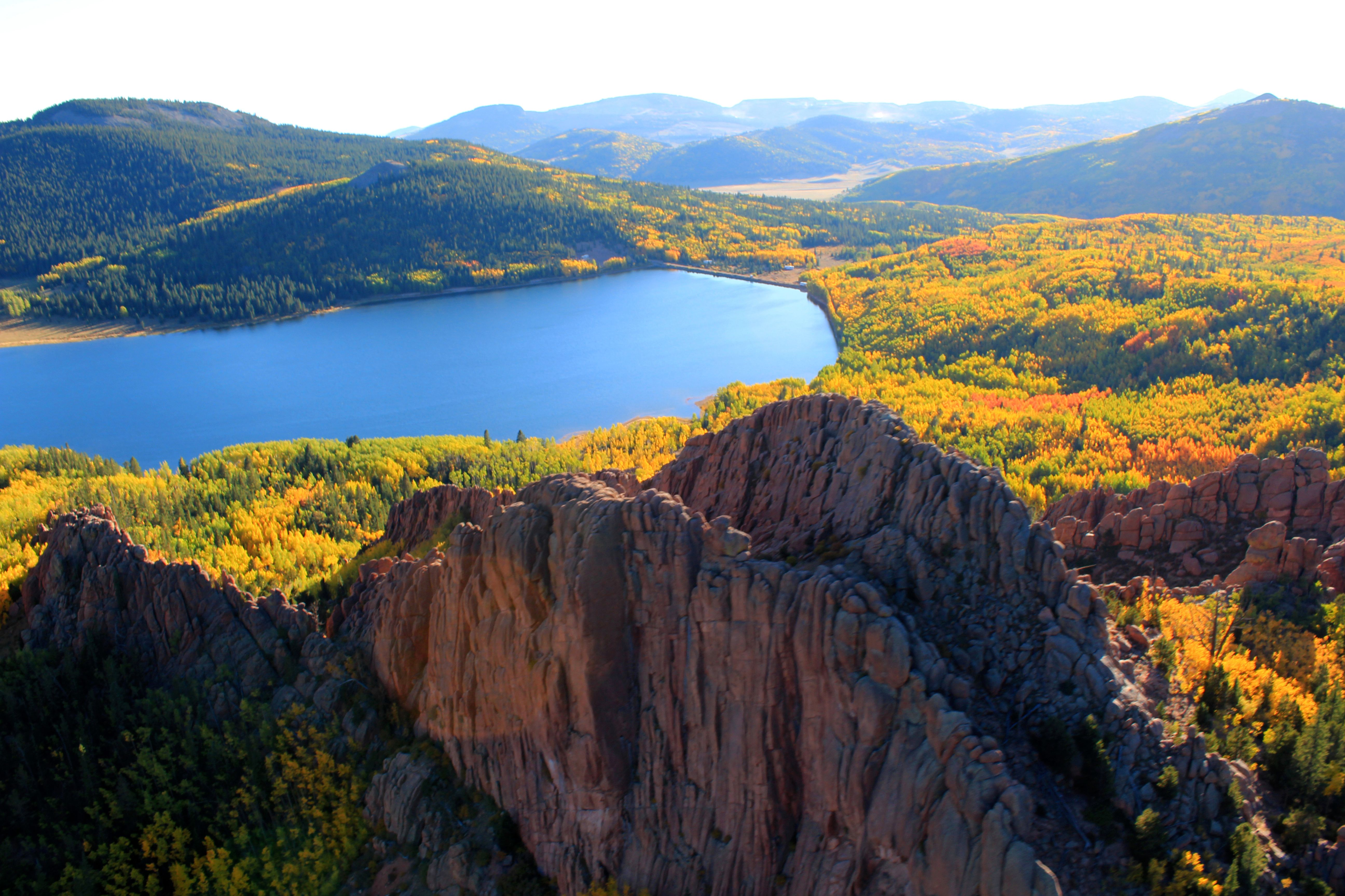 See the Colorado Aspens at Autumn from an amazing view!  Colorado Fall vacation ideas from Royal Gorge Helitours www.royalgorgehelitours.org