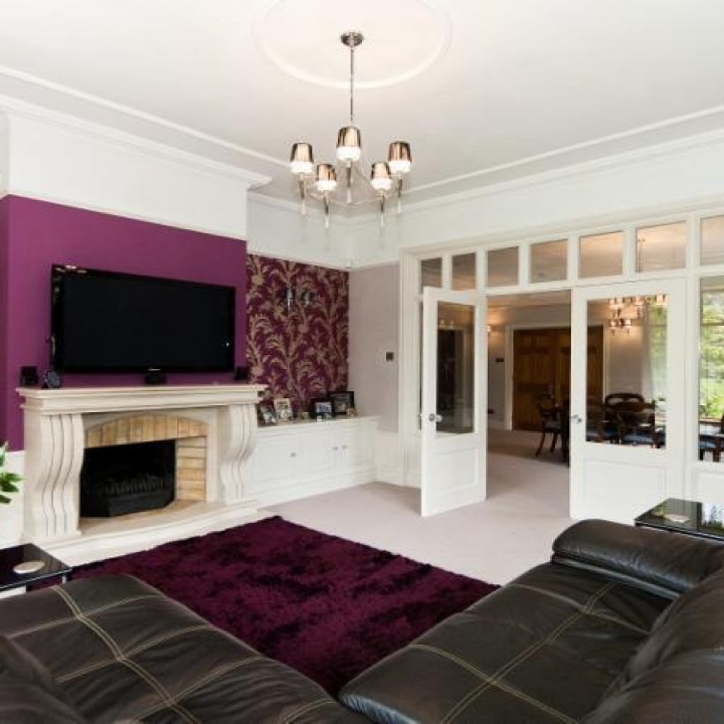 Purple Feature Wall Living Room Ideas  Httpintrinsiclifedesign Adorable Purple Living Room Designs Design Decoration