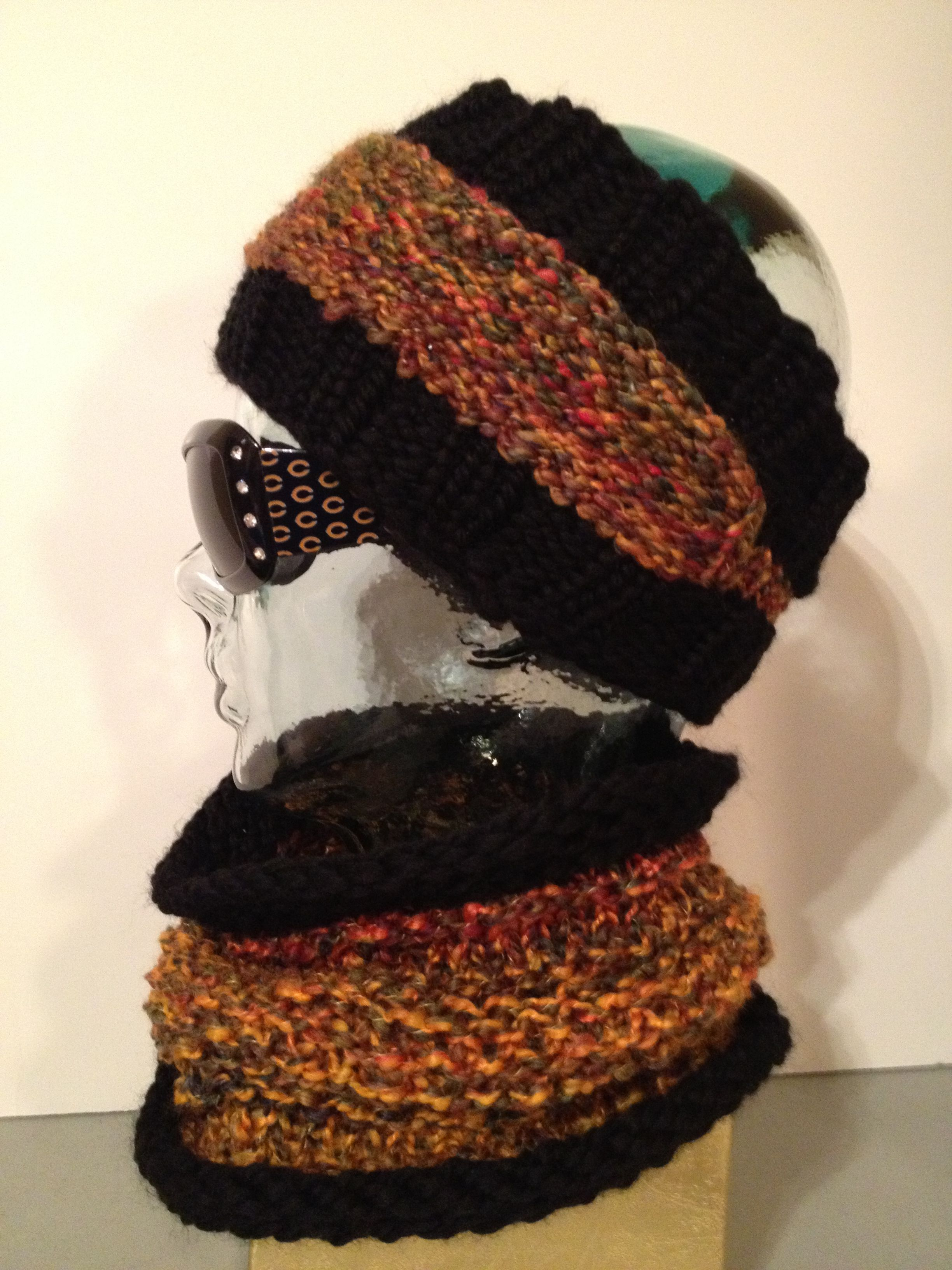 Ear warmer and cowl. Loom knit. Ear warmer pattern on ravelry | My ...