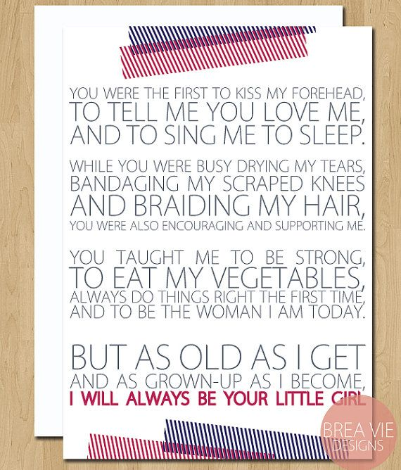 Father's Day Card From Daughter, Gift For Dad, Dad Card