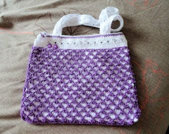 Crochet Shoulder Bag by RenewCraftsnConsign on Etsy