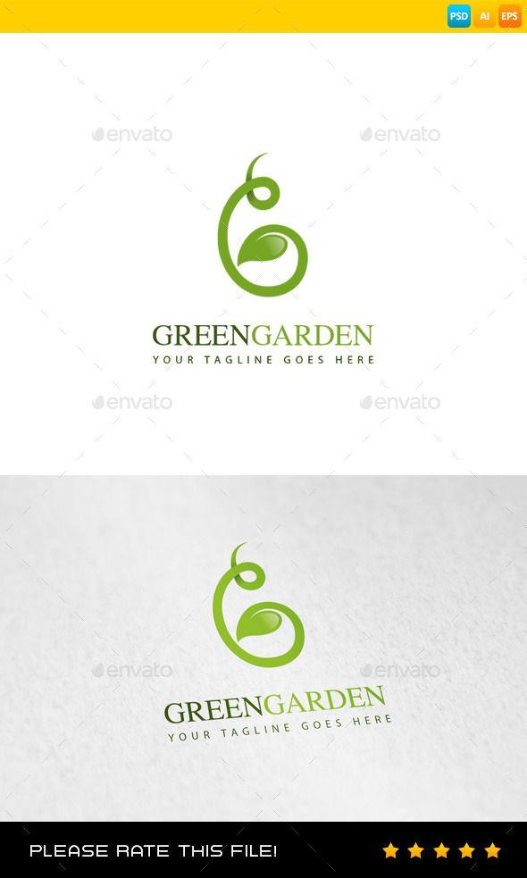 Garden Logo Design Template Vector Logotype Download It Here