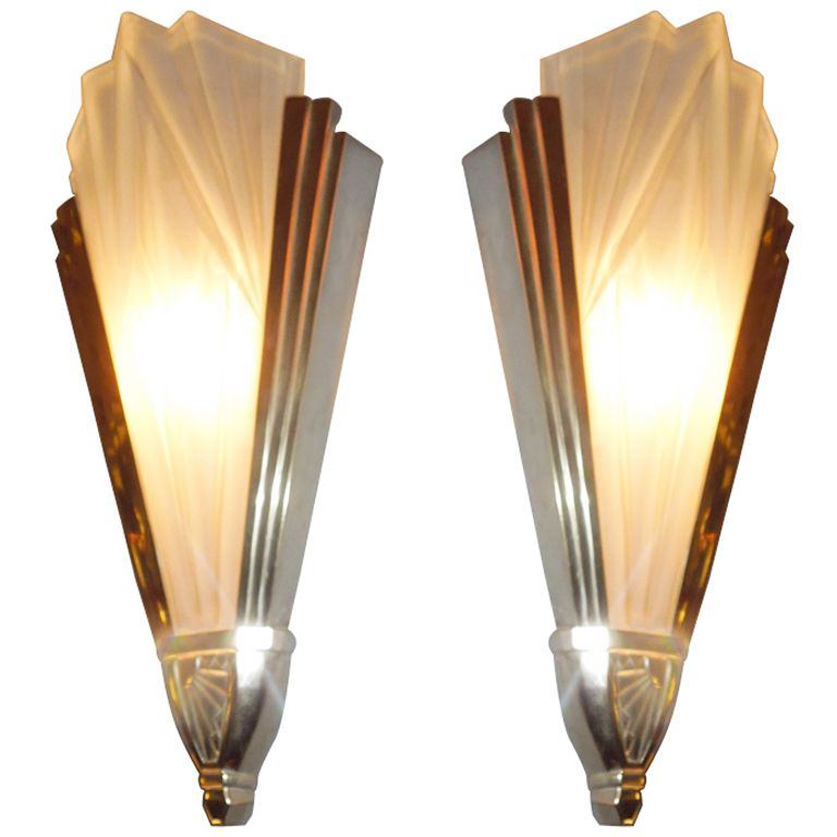 Wall Sconces Art Deco : Art Deco Sconces from Degue Modern wall, Art deco and Modern