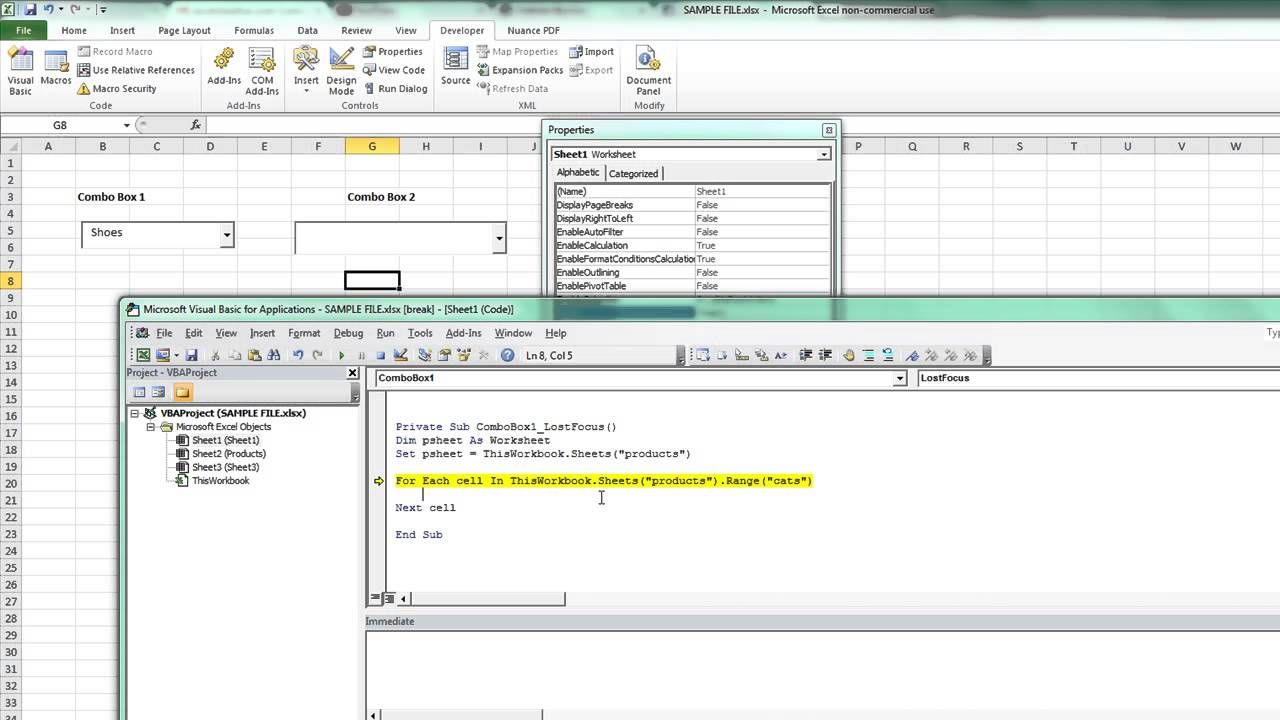 One Combobox Loads The Other In Excel Vba  Excelvbaisfun  Excel