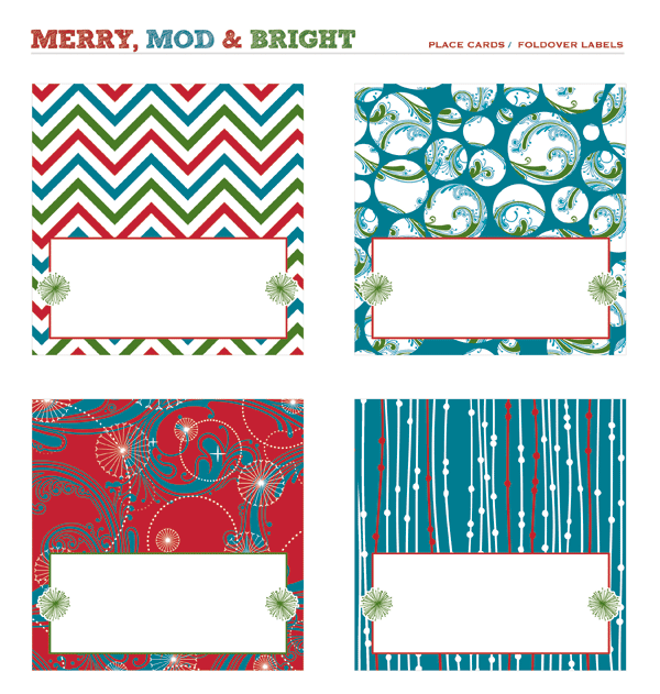 merry mod bright holiday party free printables. Black Bedroom Furniture Sets. Home Design Ideas