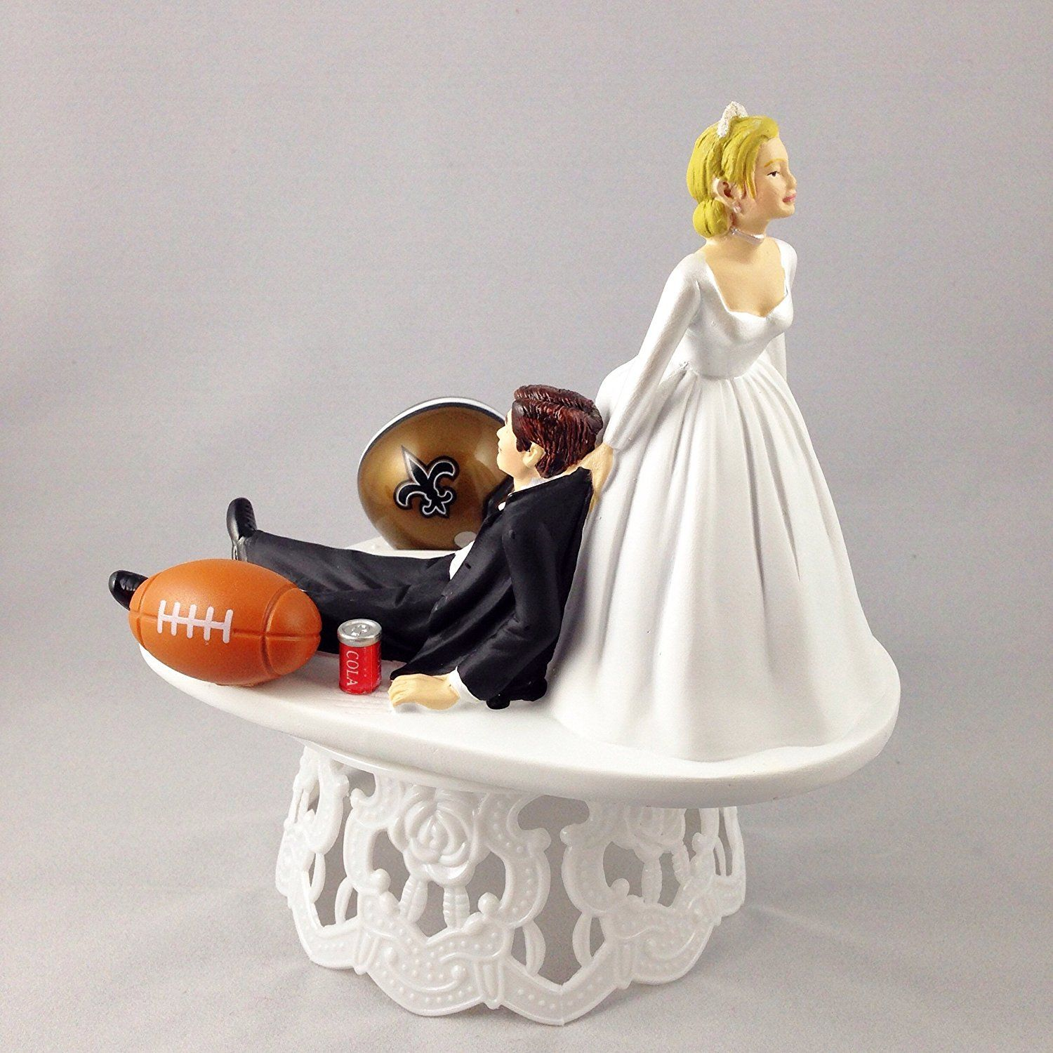 Funny Wedding Cake Topper New Orleans Saints Football Themed Can Be  Personalized with Your Favorite NFL Team    More infor at the link of image      baking ... c301b462d