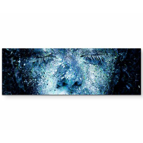 Photo of East Urban Home canvas print girl with blue body art | Wayfair.de