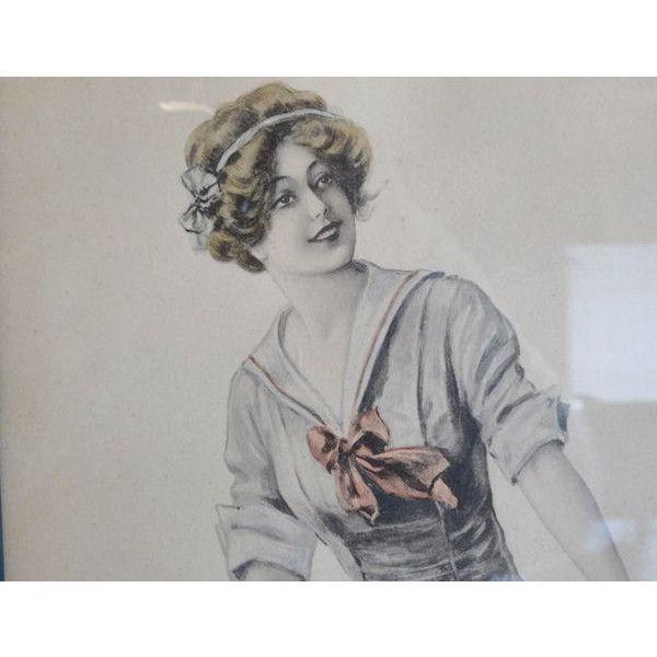 Antique Archie Gunn Art Nouveau Woman Girl by PattysPorcelainEtc ($199) found on Polyvore