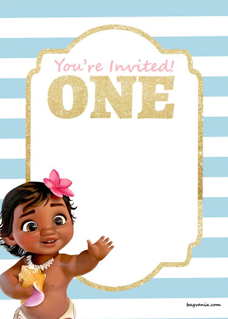 Download Free Printable Disney Princess 1st Birthday Invitations Templates