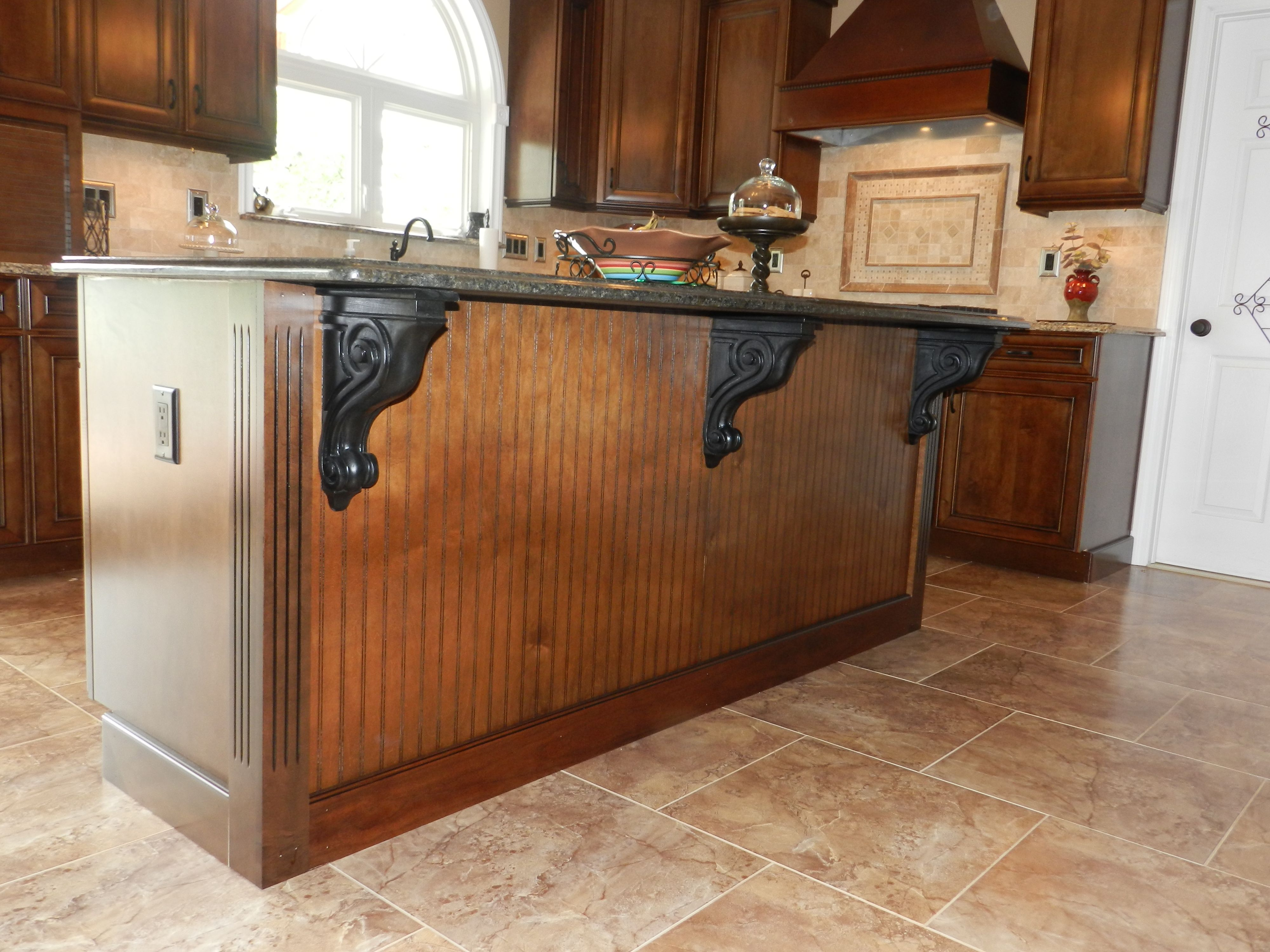 Kitchen Island with corbels & beadboard My work