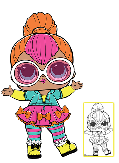 LOL Surprise Doll Coloring Pages Page 10 Color your