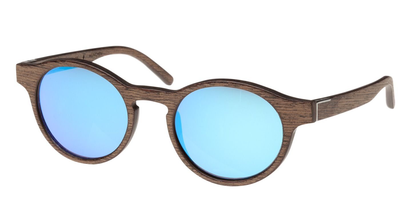 Holz-Sonnenbrille Flaucher (wood) (walnut/blue)