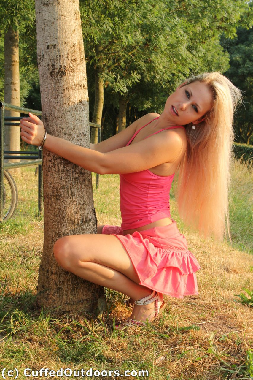 Female outdoor bondage