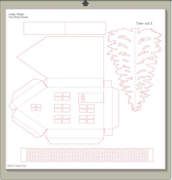 Alcune idee le casette cartoncino modelli carta fai da for Modelli case 3d