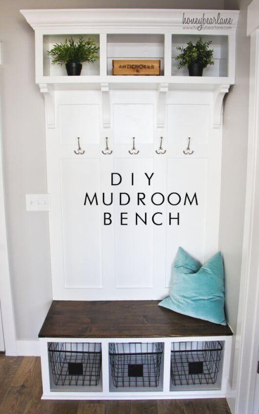 17 Diy Mudroom Entryway Storage Ideas For Very Small Spaces Diy Mudroom Bench Mud Room Storage Home Diy