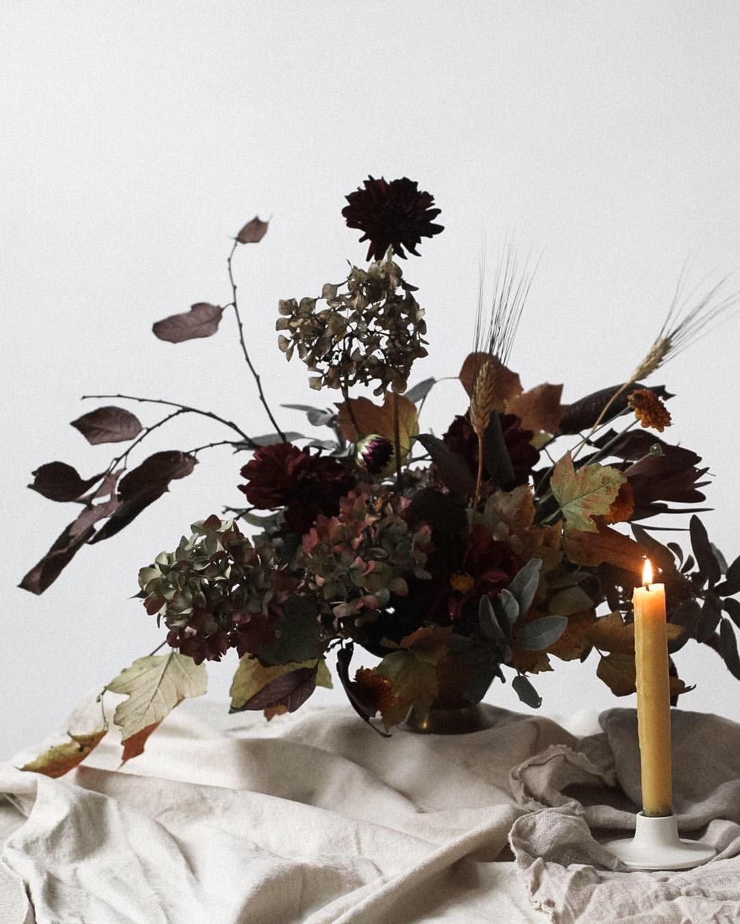 Subdued Autumn Winter Foraged Bouquet