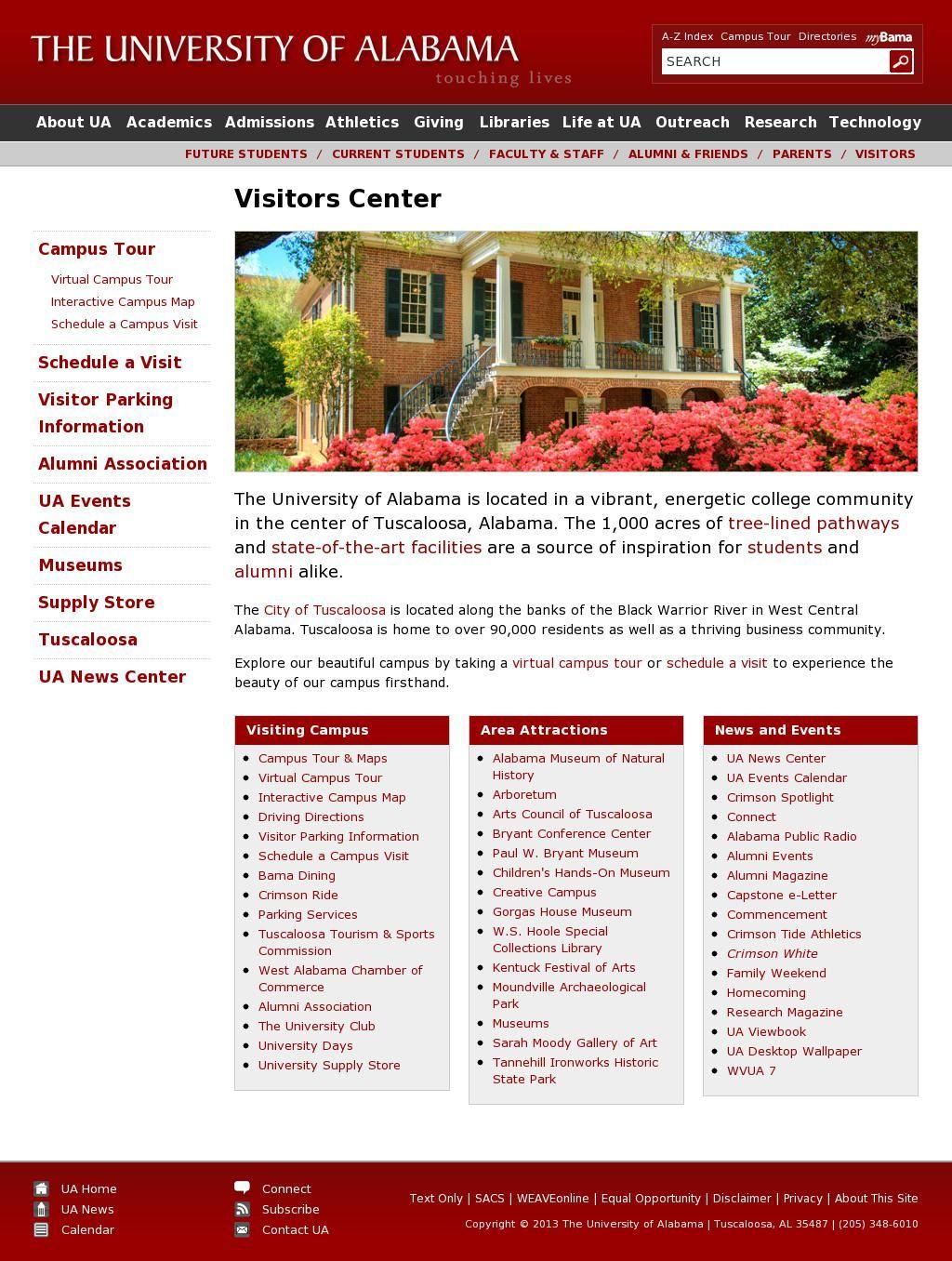 Interactive Campus Map Ua.Visitors Center Http Careers Ua Edu Beautiful Campus Pinterest