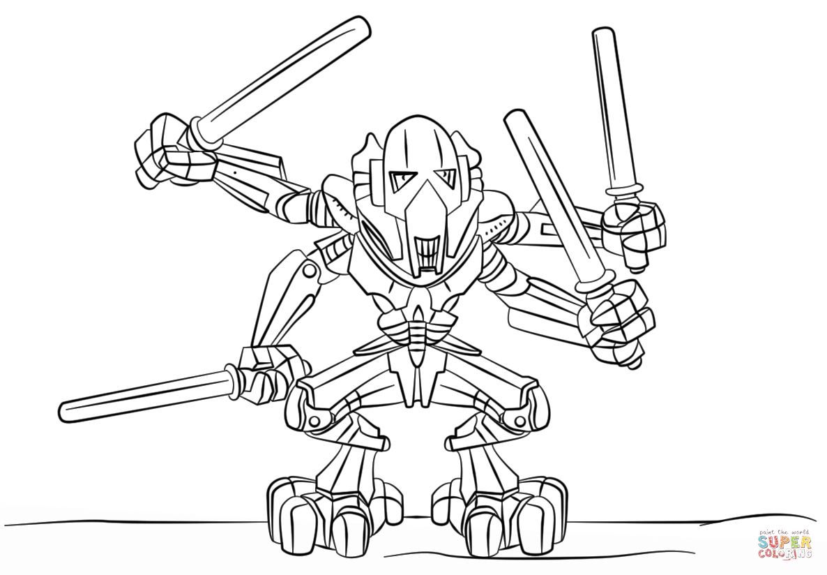 Lego General Grievous Coloring Page Png 1186 824 Lego Coloring Pages Star Wars Coloring Book Star Wars Colors