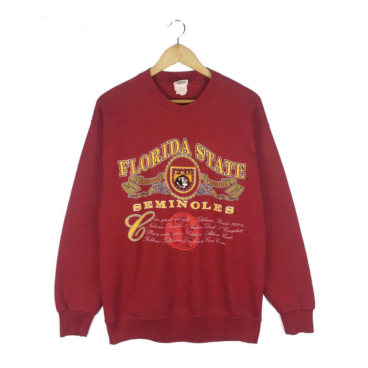 Vintage 90s Florida State University Seminoles Sweatshirt Etsy Sweatshirts Pullover Sweatshirts Pullover [ 1242 x 1242 Pixel ]