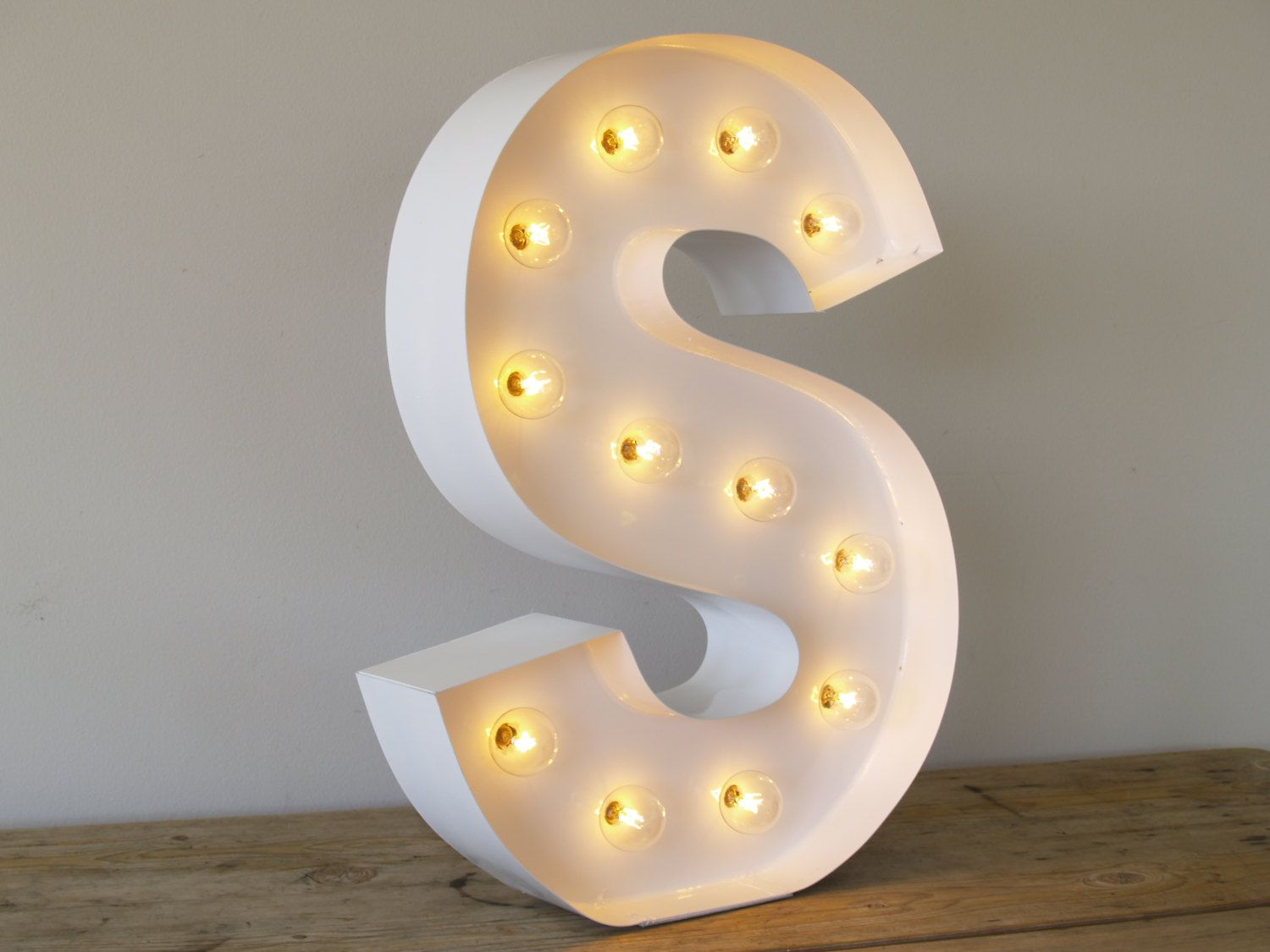 Light Up Letters For Wall Magnificent Hollywood Letter S With In Pure White Withcarnivalletters  My Design Decoration