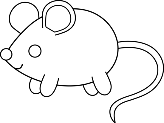 simple animal coloring pages cute colorable mouse free clip art