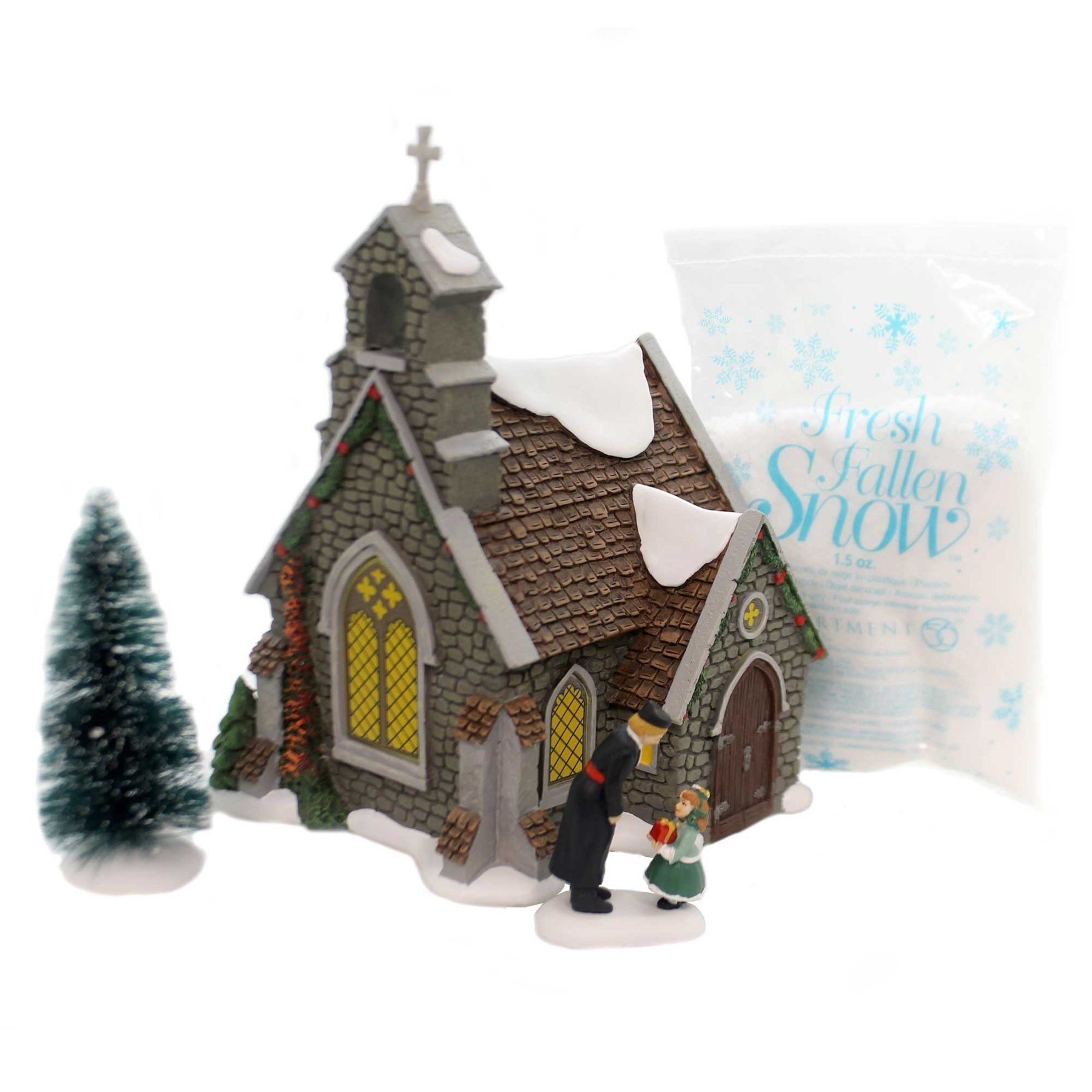 Department 56 House Isle Of Wight Chapel Box Set Dickens