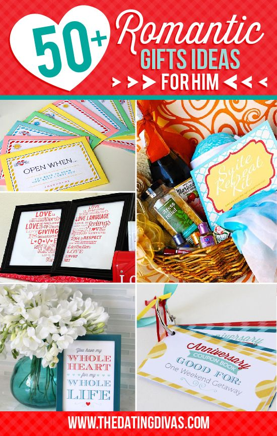 50 + Romantic Gift Ideas for Him  Romantic gifts, Gifts for him and ...