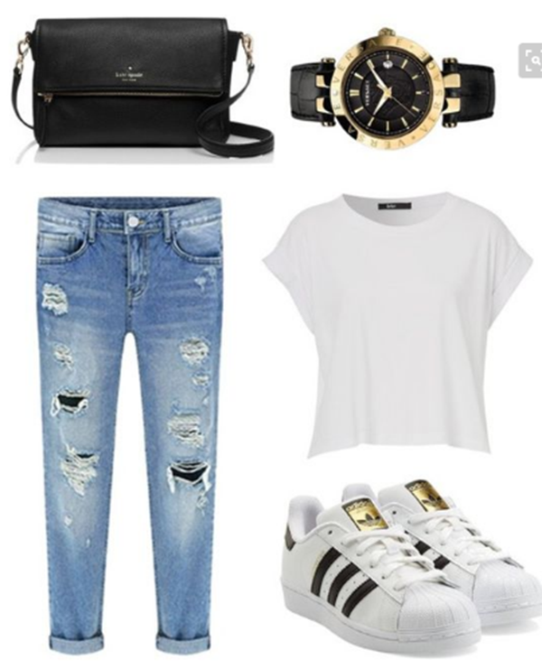 50 Best Polyvore Outfits with Adidas Superstars for Girls to Copy