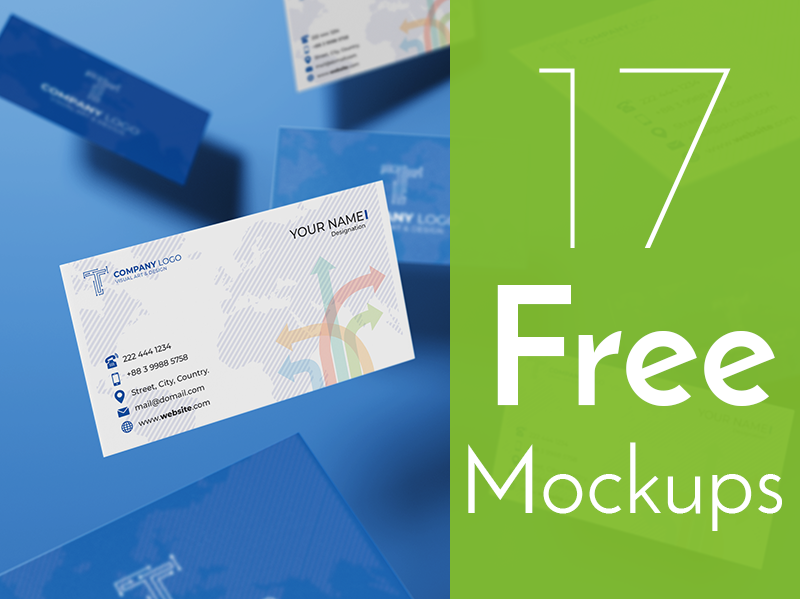 Free Top Notch Business Card Mockup Collection freebie
