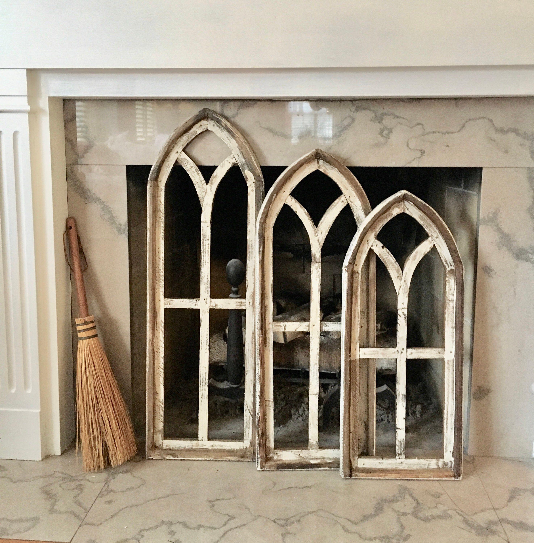 Arch window frame free ship farmhouse cottage decor