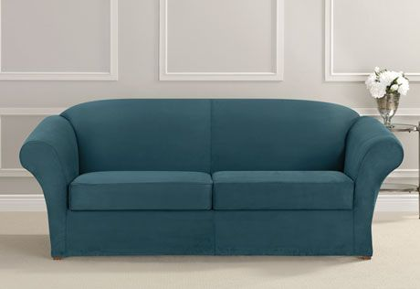 Tufted Sofa Sure Fit Slipcovers Ultimate Heavyweight Stretch Suede Separate Seat Cushion Sofa Slipcovers Sofa