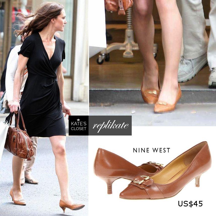 Kate Middleton Style Shop Bally Tan Kitten Heels